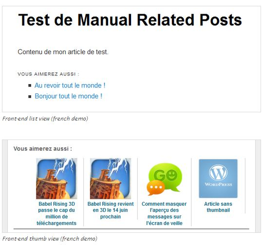 manual related posts