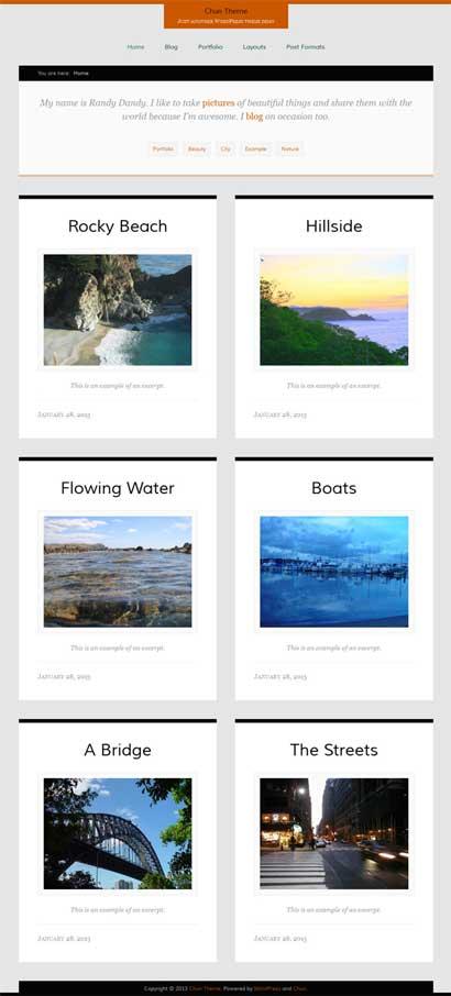 Chun Responsive portfolio theme