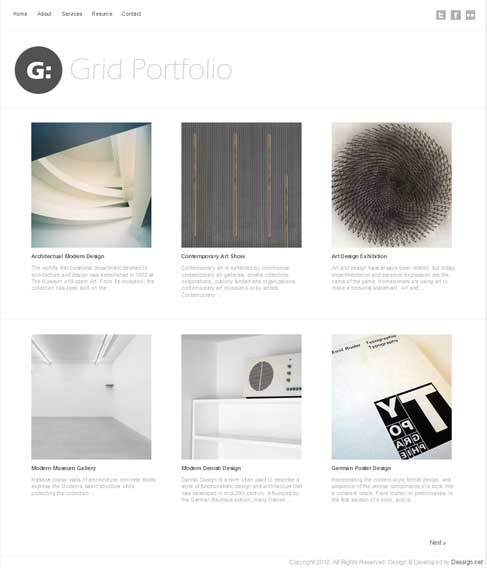 grid portfolio free theme wordpress