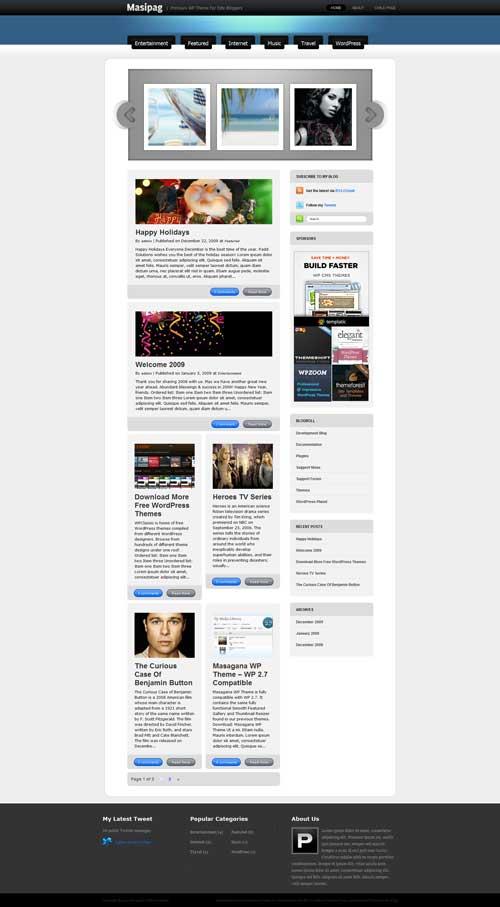 free wordpress portfolio theme masipag