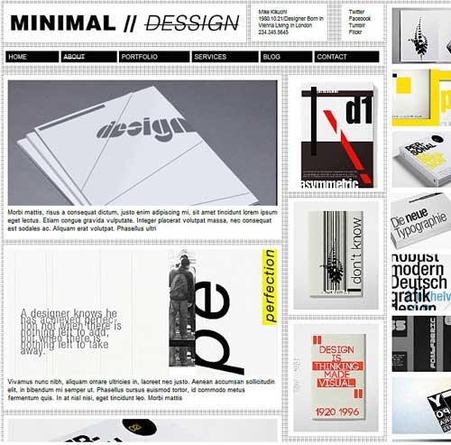 minimal design wordpress theme