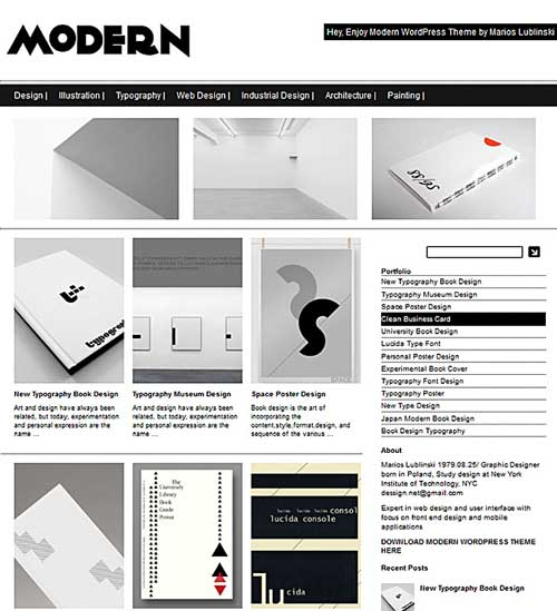modern free wordpress theme portfolio
