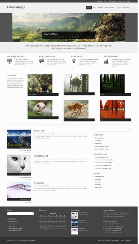 panoramica free portfolio theme