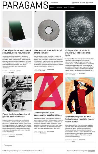 paragram free wordpress portfolio theme