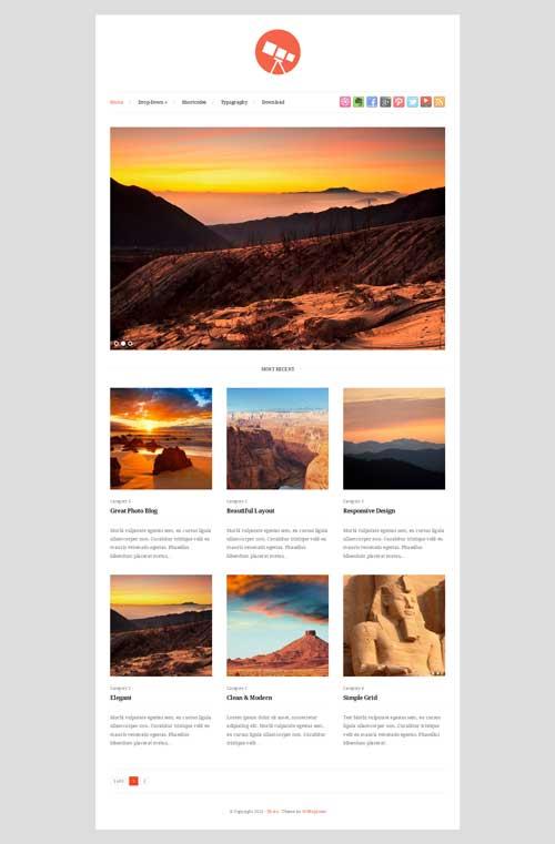 photo responsive portfolio theme