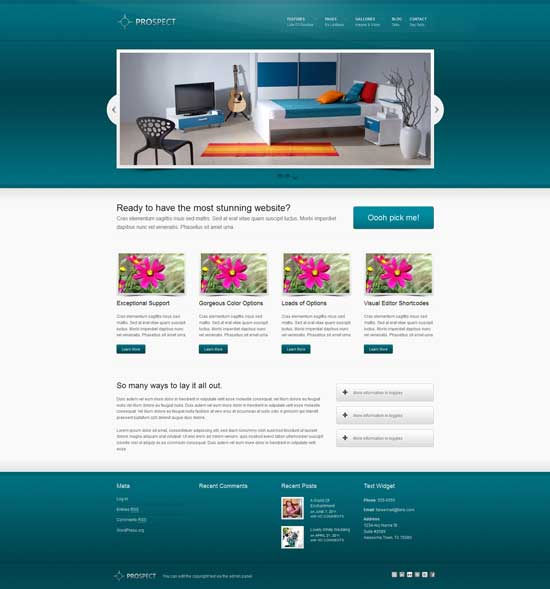 prospect free wordpress portfolio theme