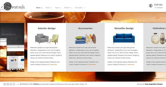 samarcanda free wordpress theme responsive portfolio