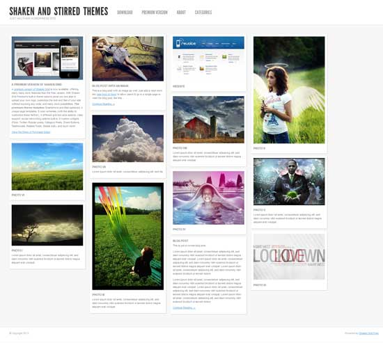shaken grid free wordpress theme