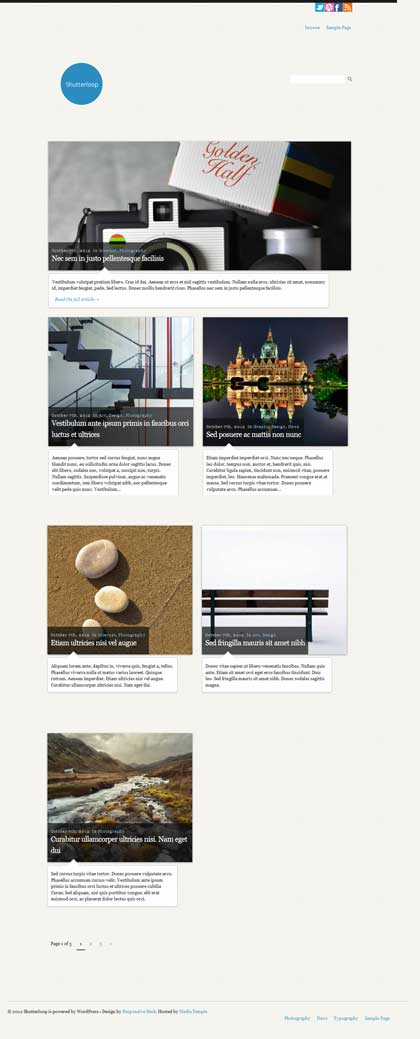 shutterloop wordpress theme
