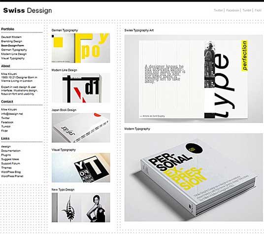 Swiss wordpress portfolio theme download