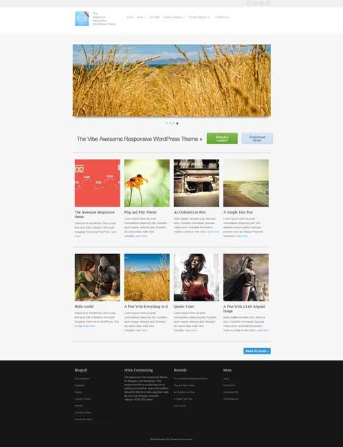 vflex free portfolio theme
