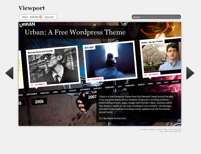 viewport wordpress theme free