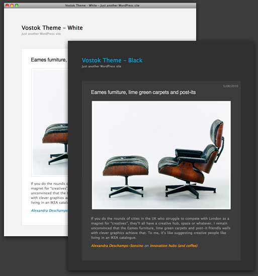 vostok free wordpress portfolio theme