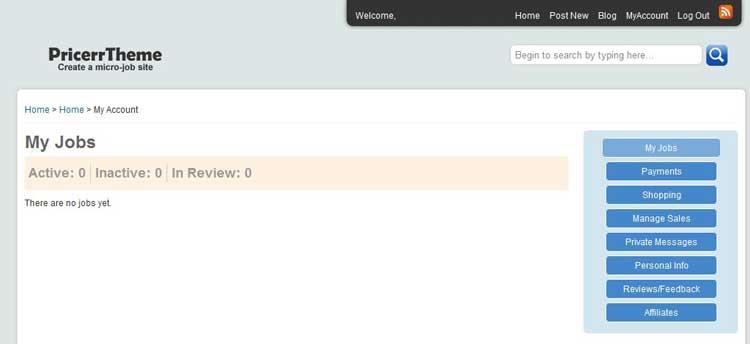default user interface
