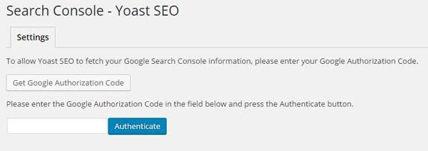 Google search console Yoast SEO