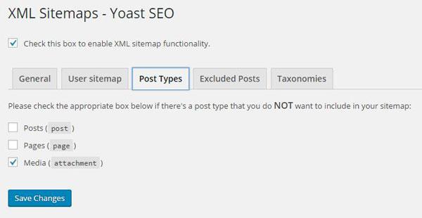 Yoast SEO post type XML sitemap