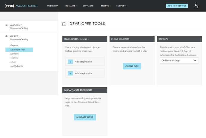 Mediatemple Developer Tools