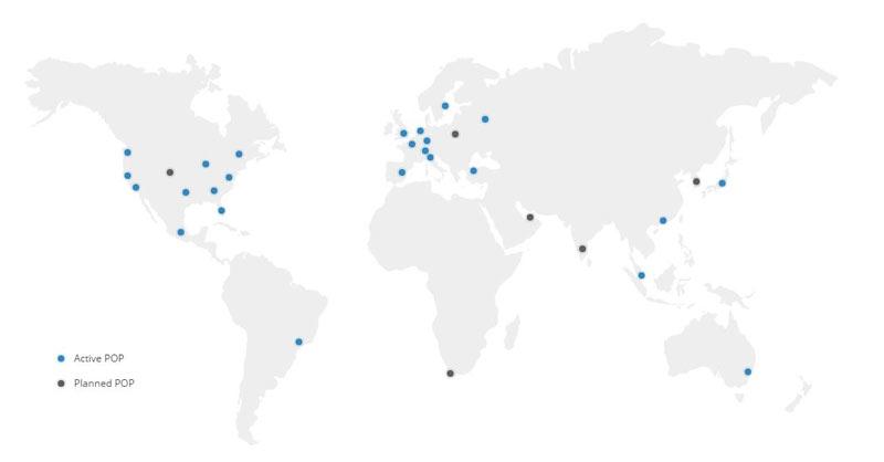 KeyCDN network, KeyCDN Pops