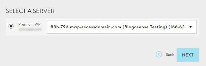 Select domain server
