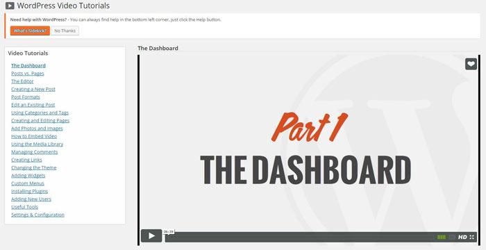 WP101 video tutorials