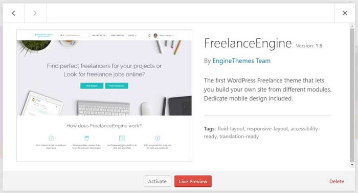 Freelancer Engine Installed