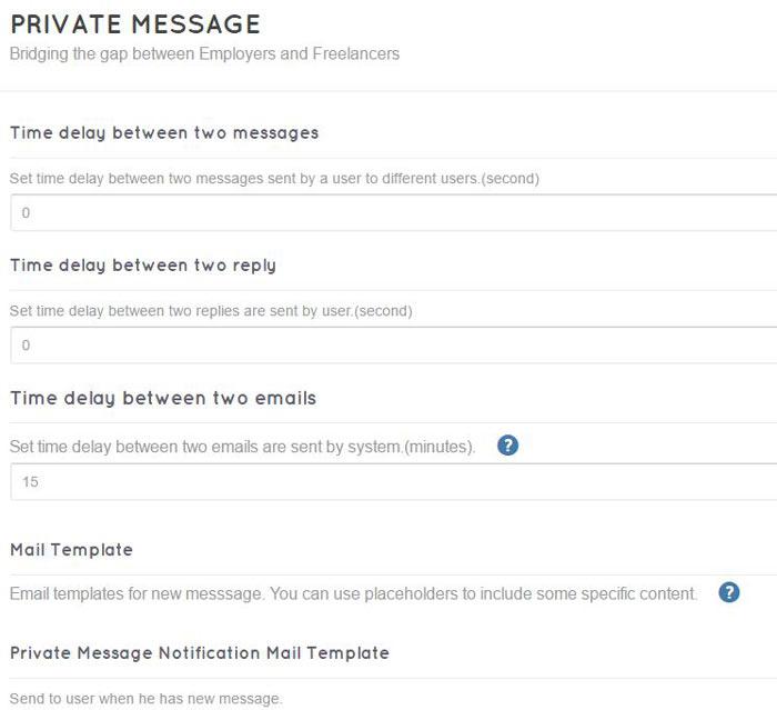 private message freelancerengine