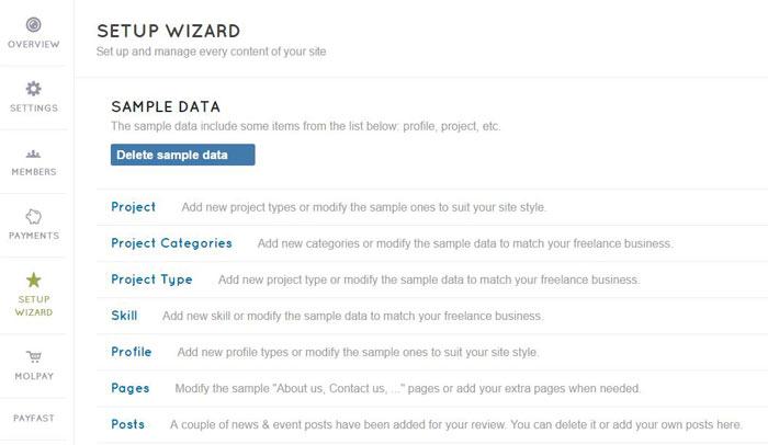 FreelancerEngine setup wizard
