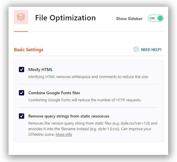 file optimization wp rocket