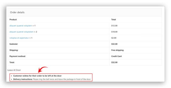 no contact delivery woocommerce