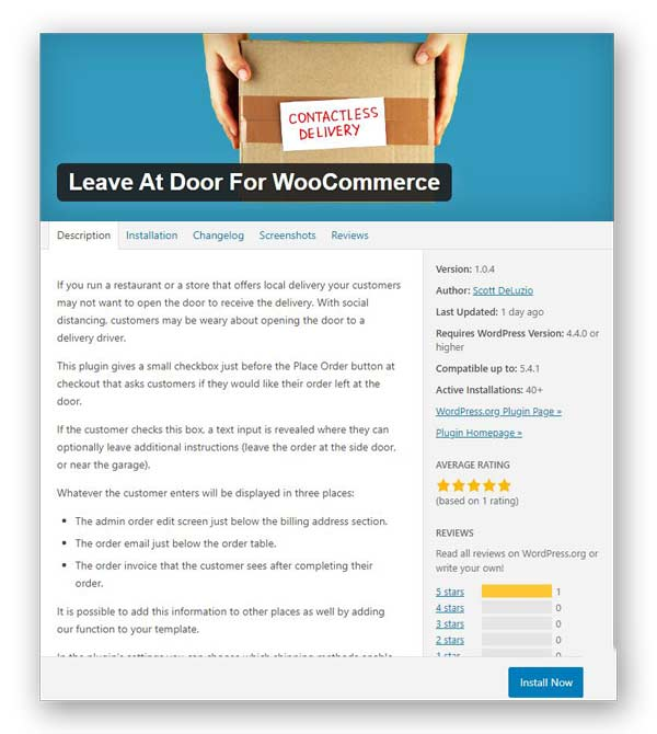 add contactless delivery feature in your woocommerce store using leave at door plugin